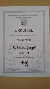 Urkunde Völkerball